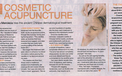 Dr. Vivian Tam's work featured in Body & Soul Magazine (27th January 2013)