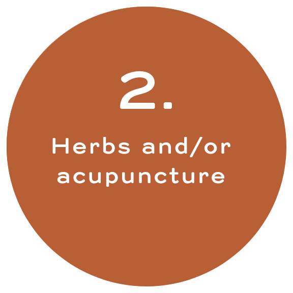Herbs and / or acupuncture